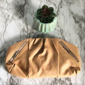 Boutique tan clutch